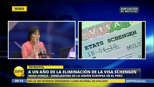Irene Horejs, embajadora de la Unión Europea en el Perú, celebró un año desde que se eliminó este trámite para los peruanos.