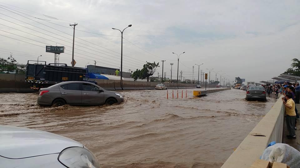 La situación en el río Chillón esta mañana