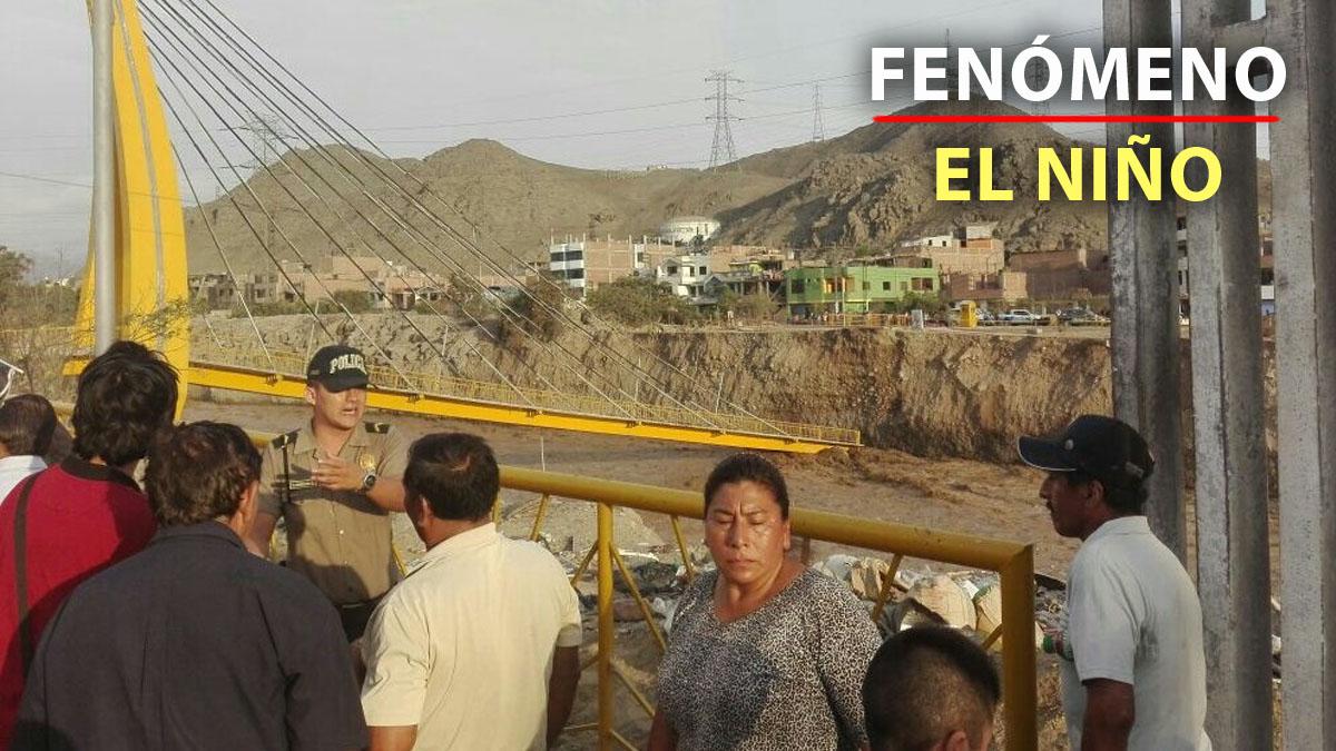 Las cimientos del puente Talavera fueron erosionados por la crecida del caudal del Rímac.