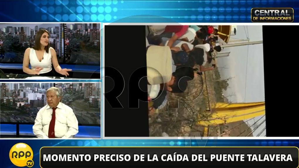 El geólogo Enrique Guadalupe dijo en RPP Noticias que el puente Talavera estuvo mal diseñado.