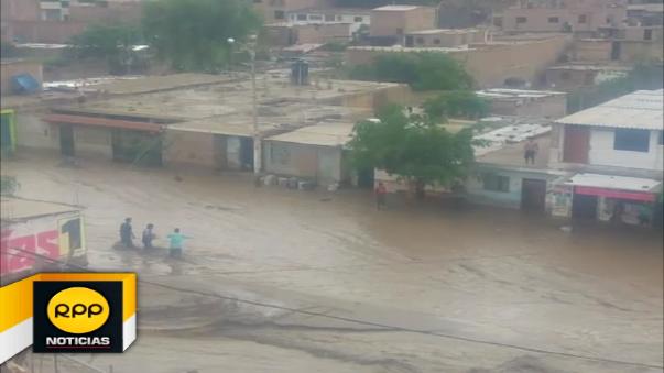 El Porvenir inundado.
