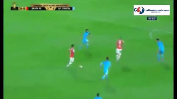 Independiente Santa Fe con Gustavo Costas ganó por 3-0 en El Campín de Bogotá a Sporting Cristal.
