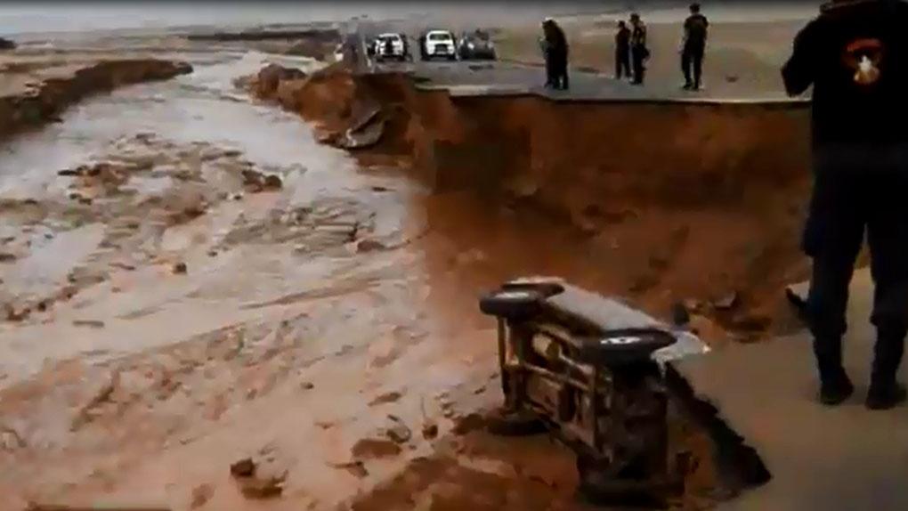 Varias carreteras del país han sido afectadas por las lluvias y huaicos.