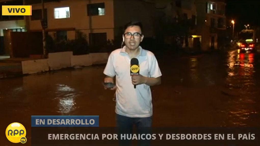Las calles de Trujillo siguen anegadas.