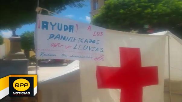 Voluntarios de la Cruz Roja permanecerán en la Plazuela Merino hasta fin de mes.