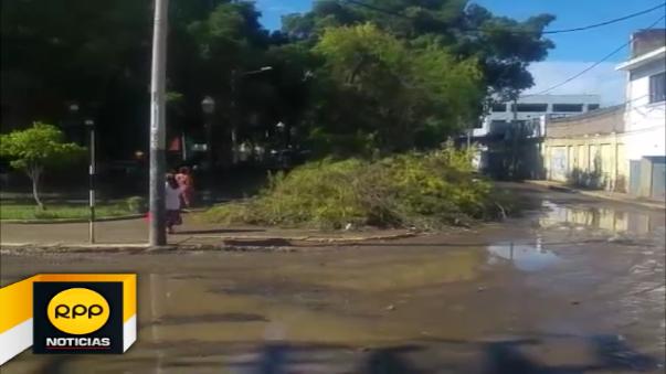 Así luce el asentamiento humano El Indio - distrito de Castilla debido a las fuertes lluvias.