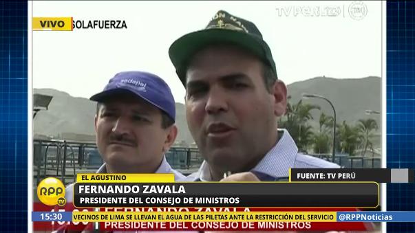 Fernando Zavala habló con la prensa junto a Rudecindo Vega, cabeza de Sedapal.