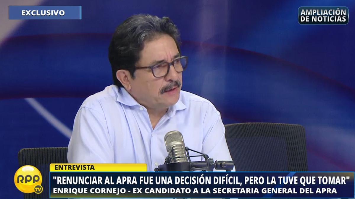 Cornejo habló en RPP Noticias sobre su salida del Apra