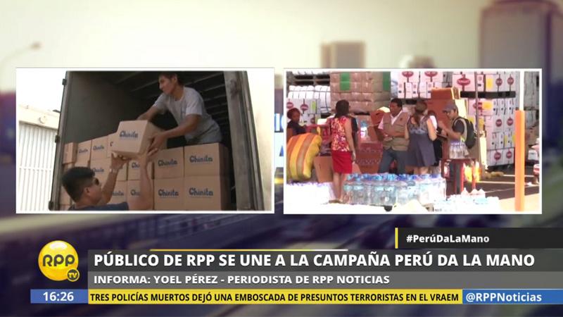 Nuestro público ha donado hasta el momento más de 100 toneladas de productos para los afectados en todo el país.