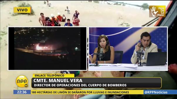 El comandante Manuel Vera confirmó dos fallecidos en el incendio de Lurigancho.