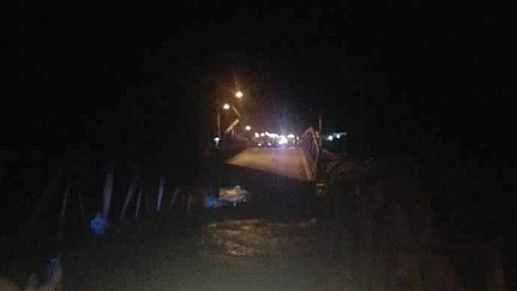 Así quedó el puente Virú tras colapsar.