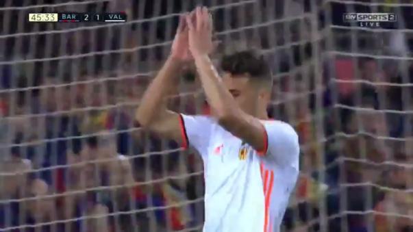 Munir anotó el empate ante el Barcelona.