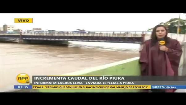 Incrementa caudal del río Piura
