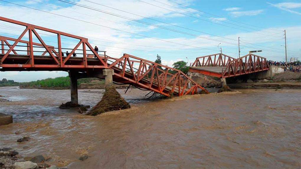 Así luce el puente Virú.