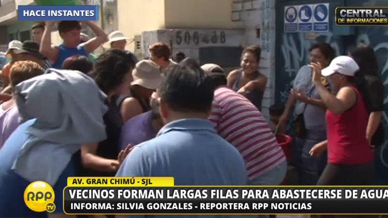 Vecinos de Zarate en San Juan de Lurigancho todavía no cuentan con el servicio de agua potable.