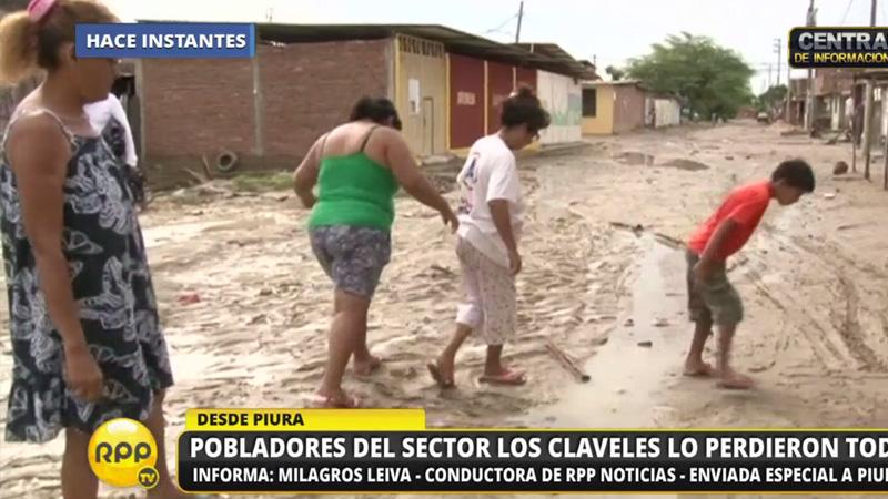 Pobladores del sector de Los Claves lo perdieron todo.