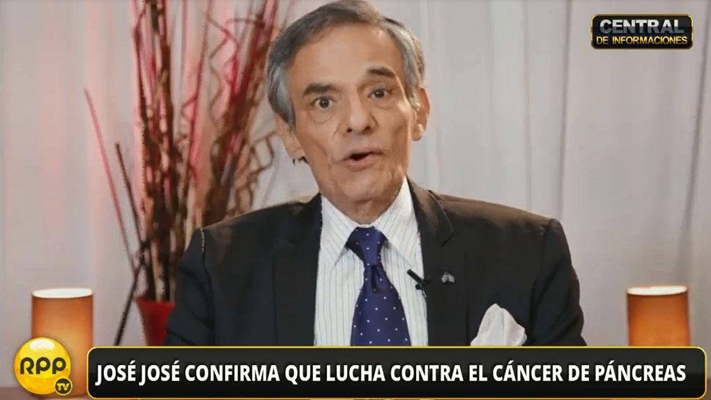 José José reveló a través de un video la enfermedad que padece