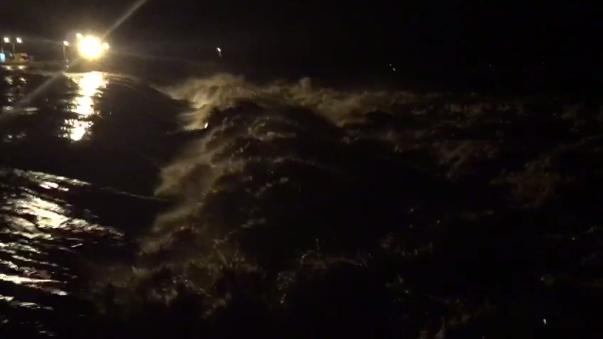 Esta madrugada en la represa Los Ejidos.