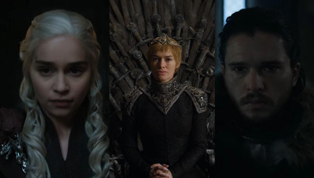 Jon Snow, Daenerys Targaryen y Cersei Lannister protagonizan el nuevo avance de