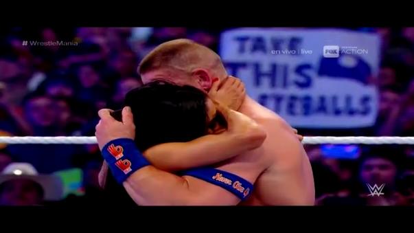 John Cena dejó un momento histórico en WrestleMania.