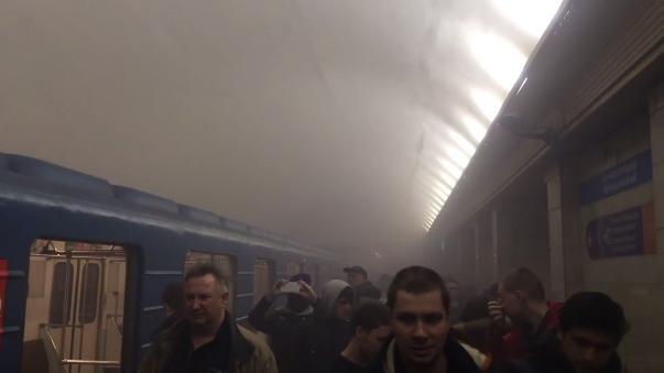 Así ha quedado el metro de San Petersburgo.