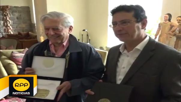 Nobel fue declarado Huésped Ilustre de la ciudad de Cusco.