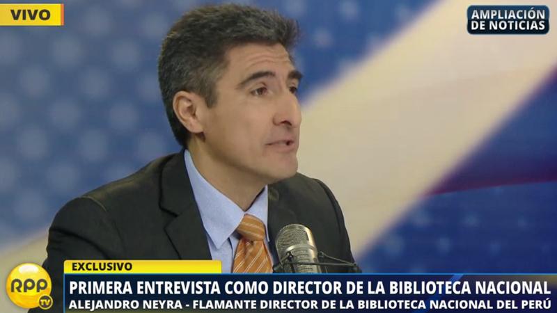 Alejandro Neyra fue designado como nuevo director de la Biblioteca Nacional.