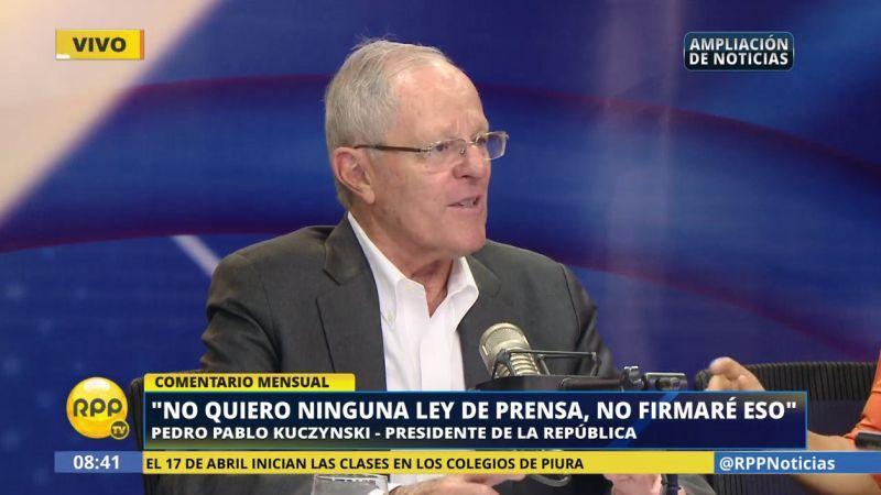 PPK también se refirió, con humor, sobre las declaraciones del fujimorista Bienvenido Ramírez.