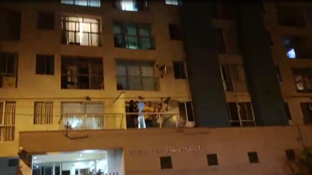 El edificio Residencial Parque Ruiz (Breña), donde fue detenido el presunto asesino.