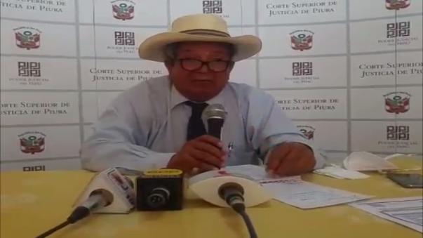 Hernán Ruiz, presidente de la Corte Superior de Justicia de Piura.