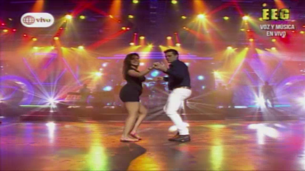 Así fue el baile entre Christian Domínguez y Chabelita