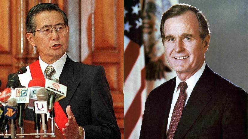 De Soto explicó que la conversación entre Bush y Fujimori fue revelada por la propia Casa Blanca.
