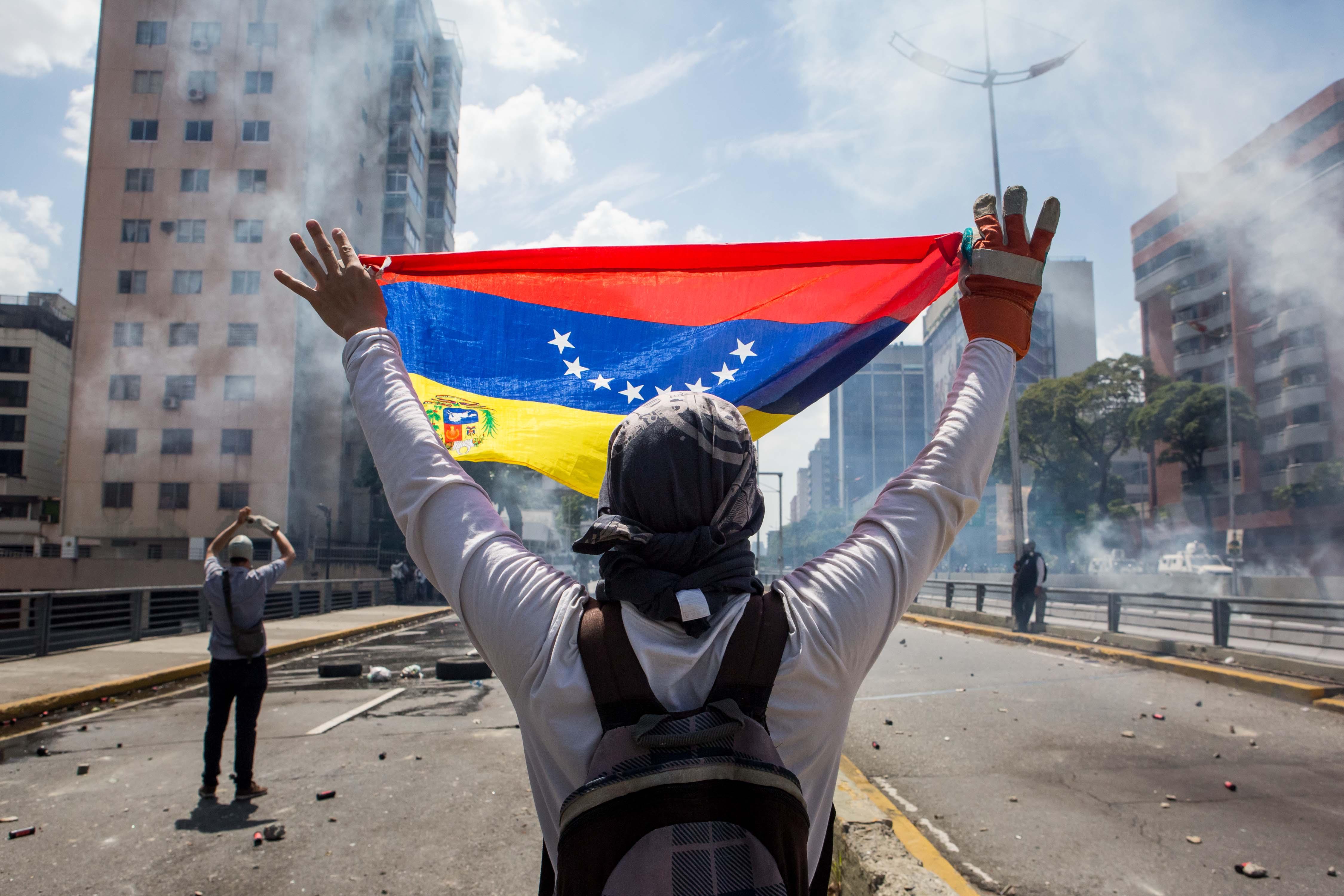 Caracas vivió una nueva jornada de disturbios.