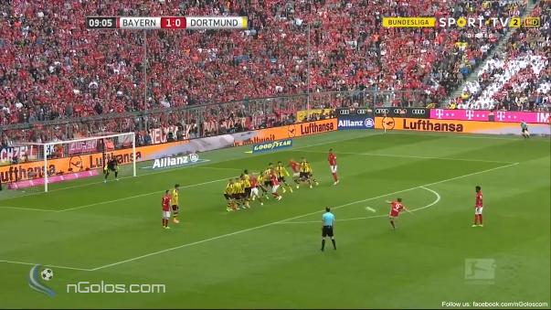 El delantero del Bayern Munich marcó y a los 10 minutos el Bayern Munich ya iba ganando por 2-0.