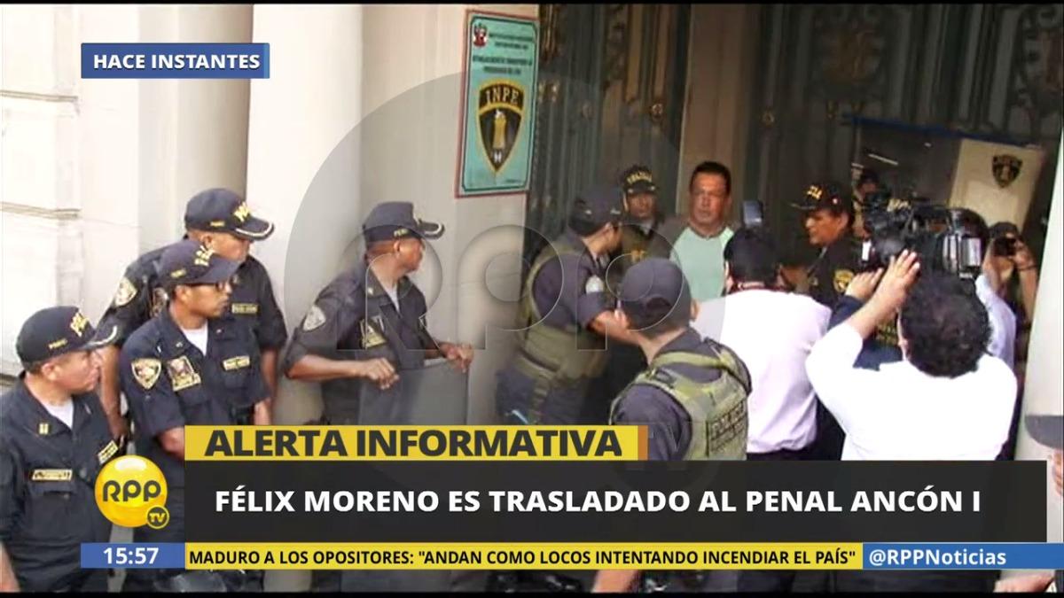 Así fue trasladado Félix Moreno a Ancón I