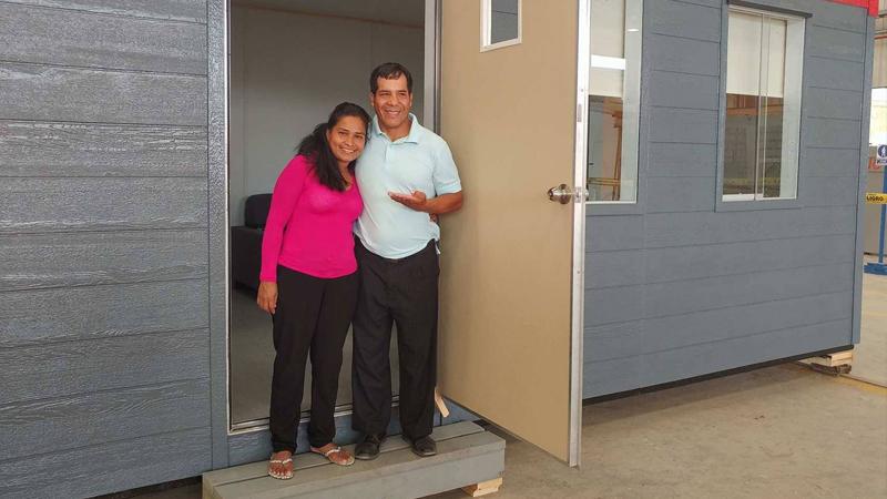 Evangelina Chamorro inicia una nueva vida con casa segura ante desastres