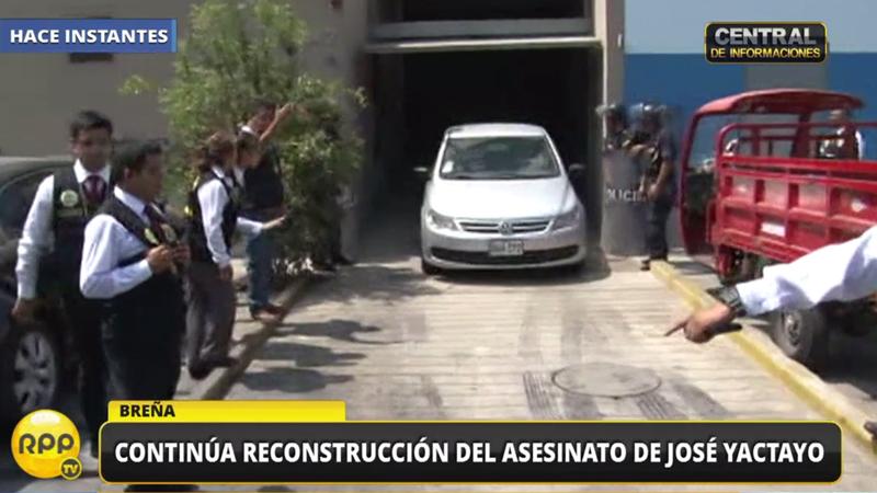 La reconstrucción del crimen del periodista José Yactayo.