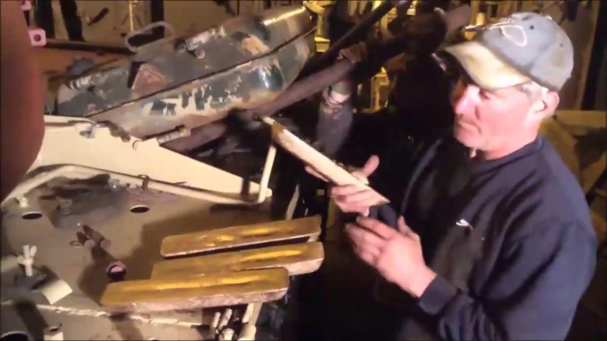 El coleccionista esperaba encontrar armas.