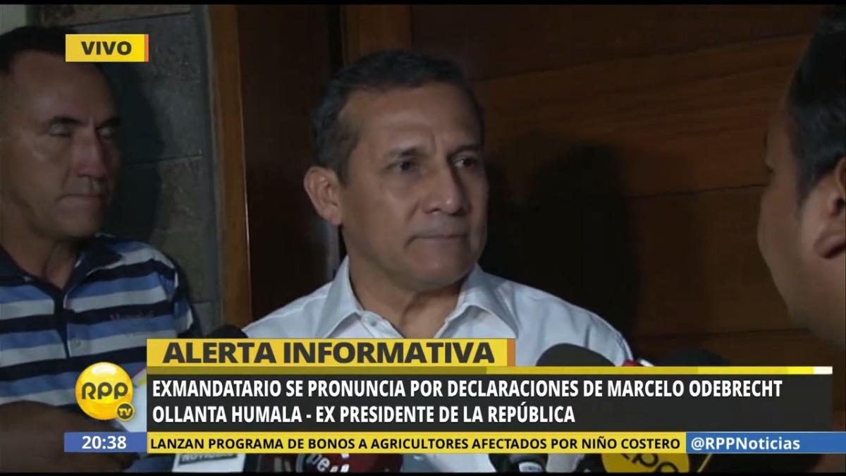 Ollanta Humala negó haber recibido dinero de Marcelo Odebrecht.