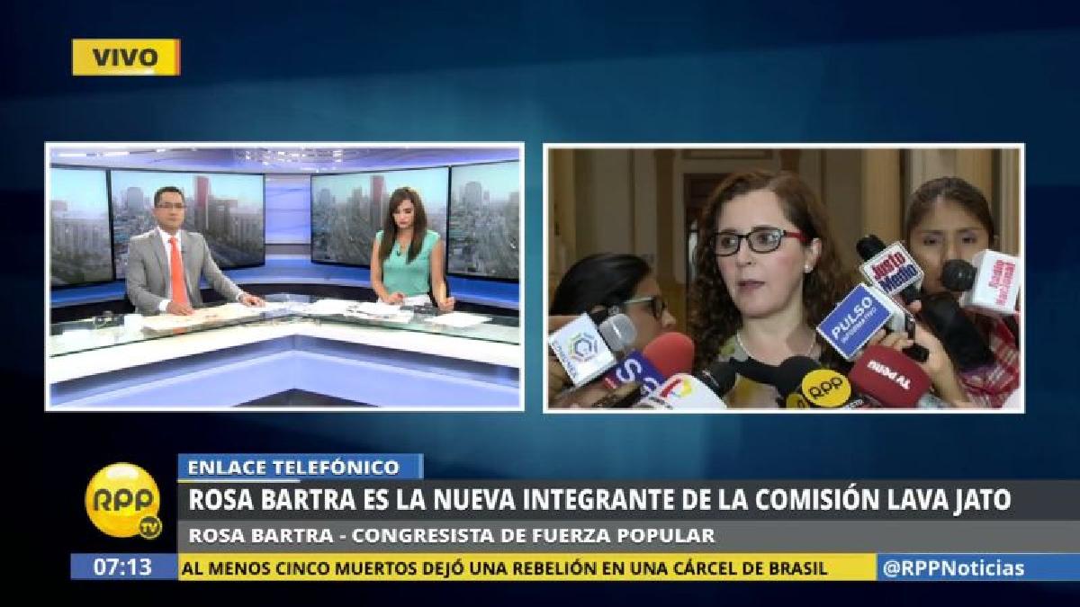 Rosa Bartra fue elegida por Fuerza Popular para reemplazar al renunciante Víctor Albrecht.