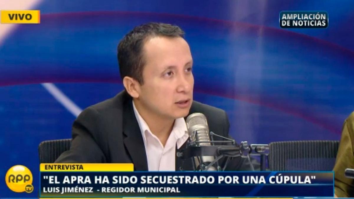 El regidor de Lima por el Apra renunció a su partido.