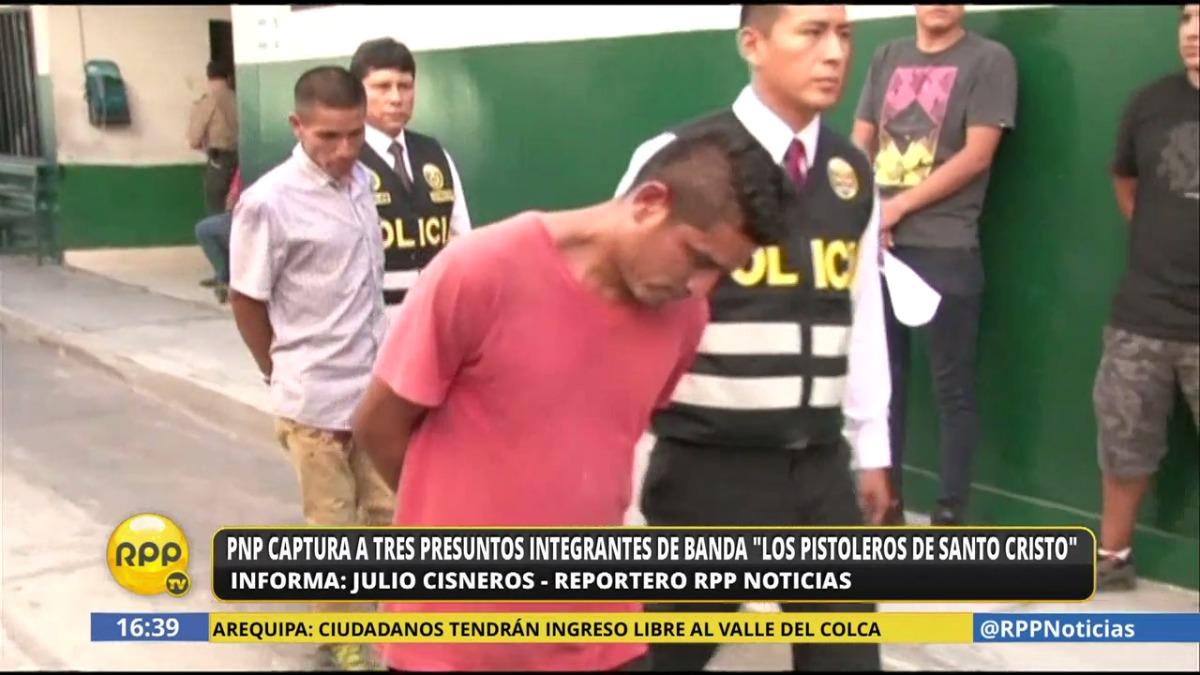 Los miembros de esta banda fueron capturados cuando pretendían robar a fieles que fueron a la iglesia de Santo Cristo.