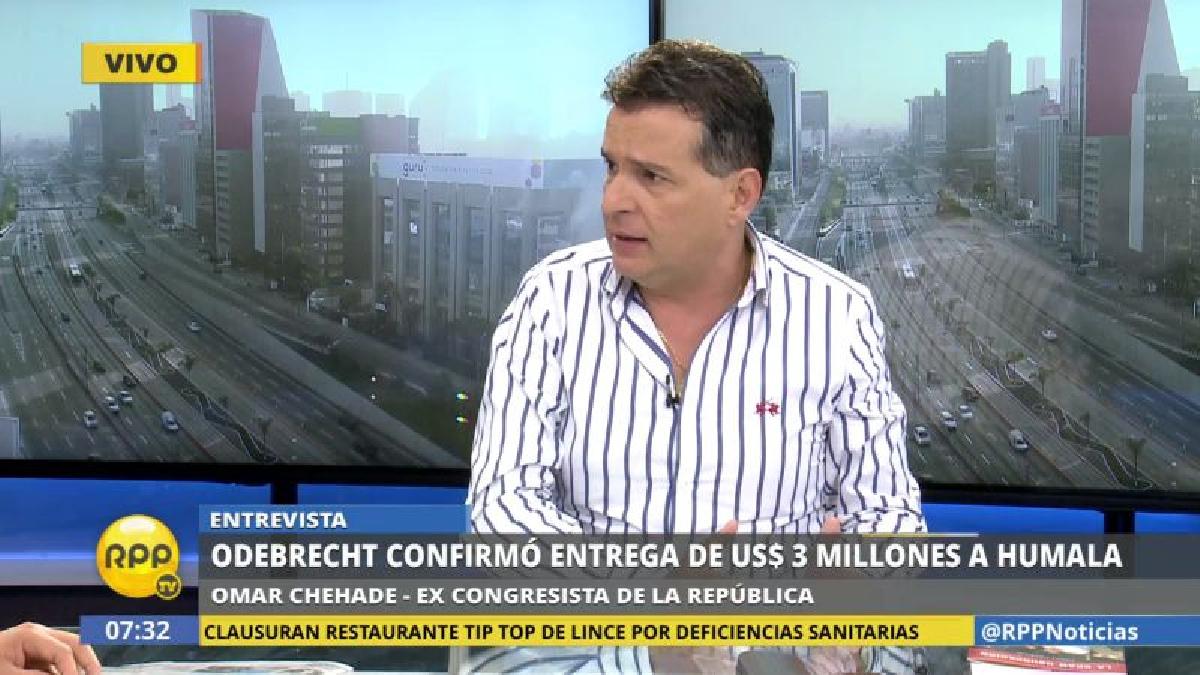Omar Chehade alertó que hay peligro de fuga de Humala y Heredia.