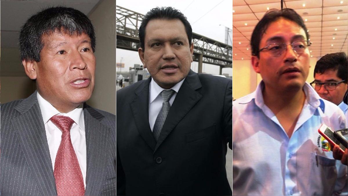 Wilfredo Oscorima (Ayacucho), Félix Moreno (Callao) y Waldo Ríos (Áncash), tres gobernadores enfrentados con la Justicia.