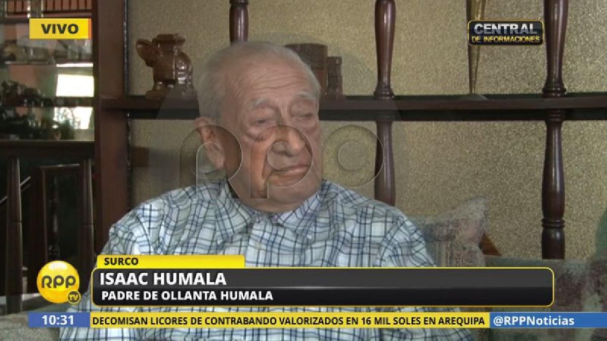 Isaac Humala consideró que no hay delito en recibir dinero para una campaña política.