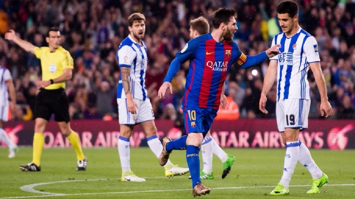 Revive los goles de Lionel Messi contra la Real Sociedad.