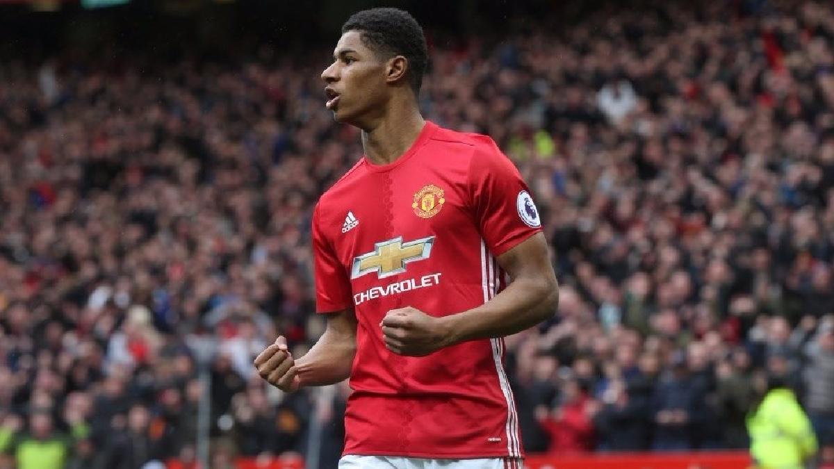 Marcus Rashford anotó su quinto gol con el Manchester United en la temporada.