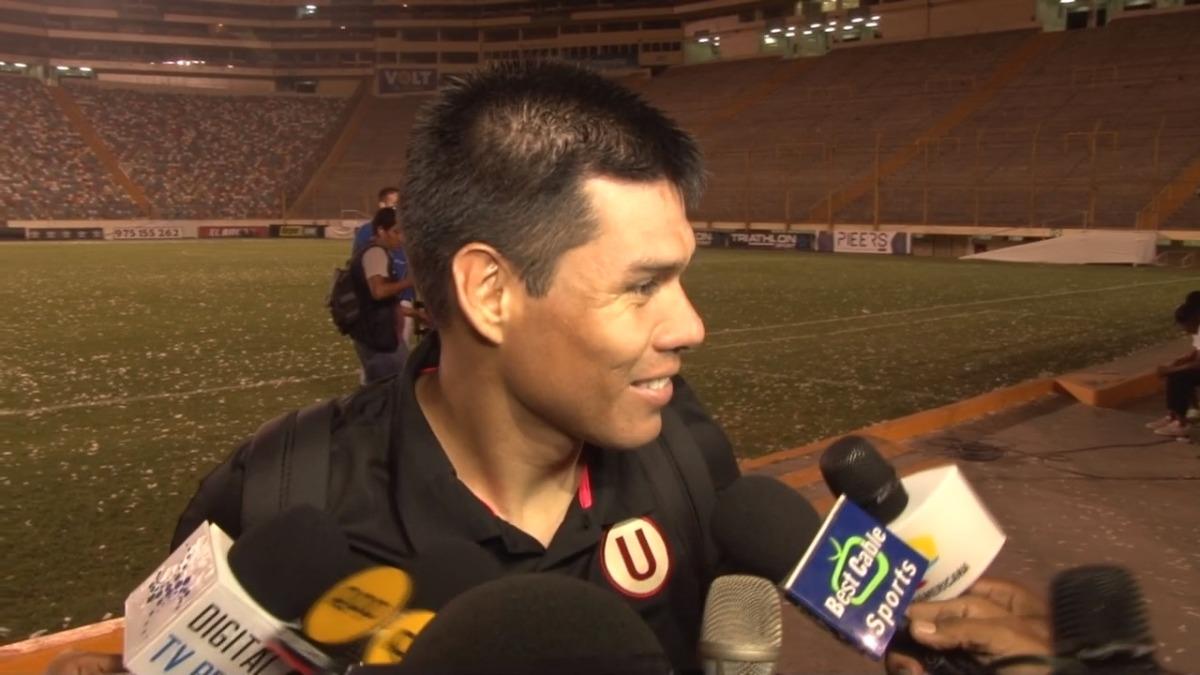 Hernán Rengifo fue el delantero titular de la 'U' en el clásico ante Alianza.