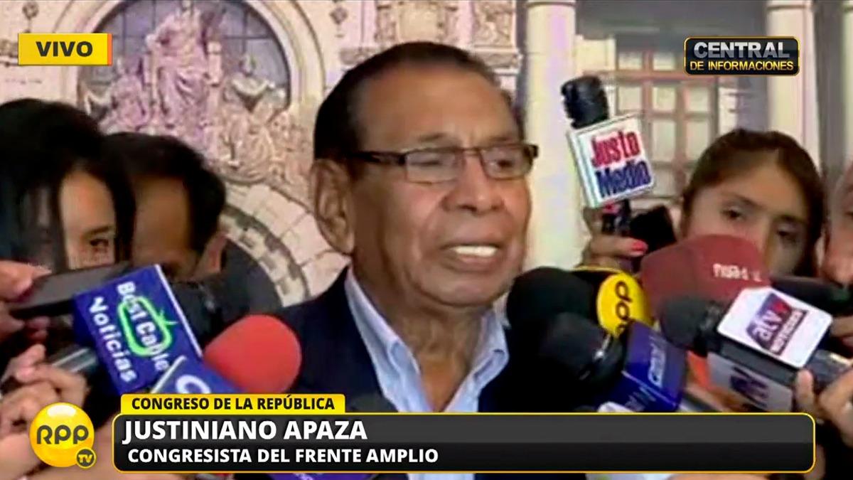 Justianiano Apaza respondió luego de sus polémica declaraciones del lunes.