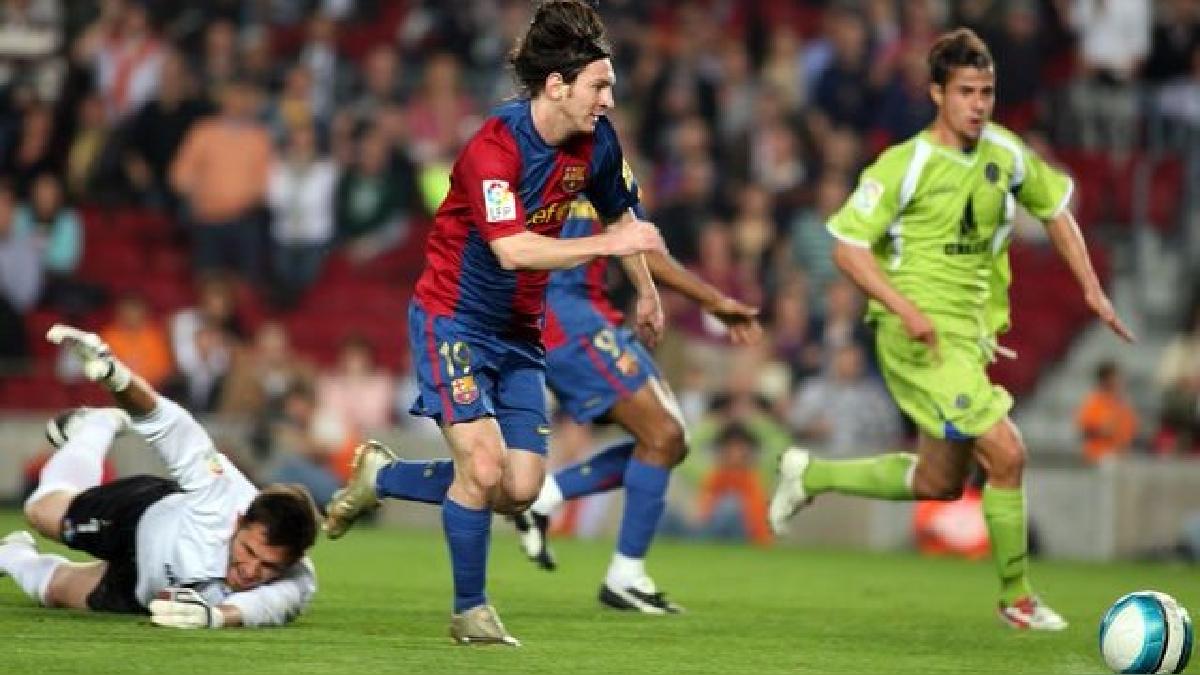 Revive el golazo de Lionel Messi al Getafe.